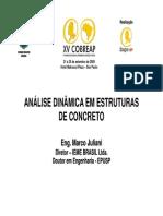 analise dinamica em estrutura de concreto Marcos Juliane
