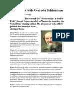 An Interview With Alexander Solzhenitsyn