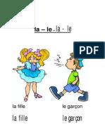 Cp Pre-grammaire Le La