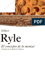 Ryle Gilbert, El Concepto de Lo Mental