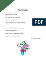 Cp Poesie Pour Maman