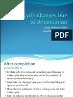 Natural Water Cycle Versus Urban Water Cycle