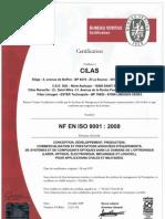 Certificat Veritas 2009 Fr