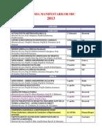 Agenda Manifestarilor Src 2013