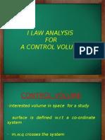 I Law Control Volume