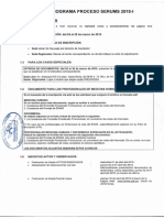 Cronograma 2015 serums I plaza remunerada