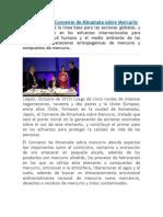 Chile Suscribe Convenio de Minamata Sobre Mercurio