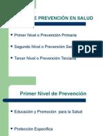 NIVELES DE PREVENCI+ôN EN SALUD y en salud bucal