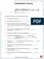 Develop Music Literacy Freebie