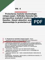 T4 Proiectarea testului docimologic (etape.ppt