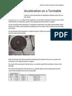 Centripetal Acceleration on a Turntable