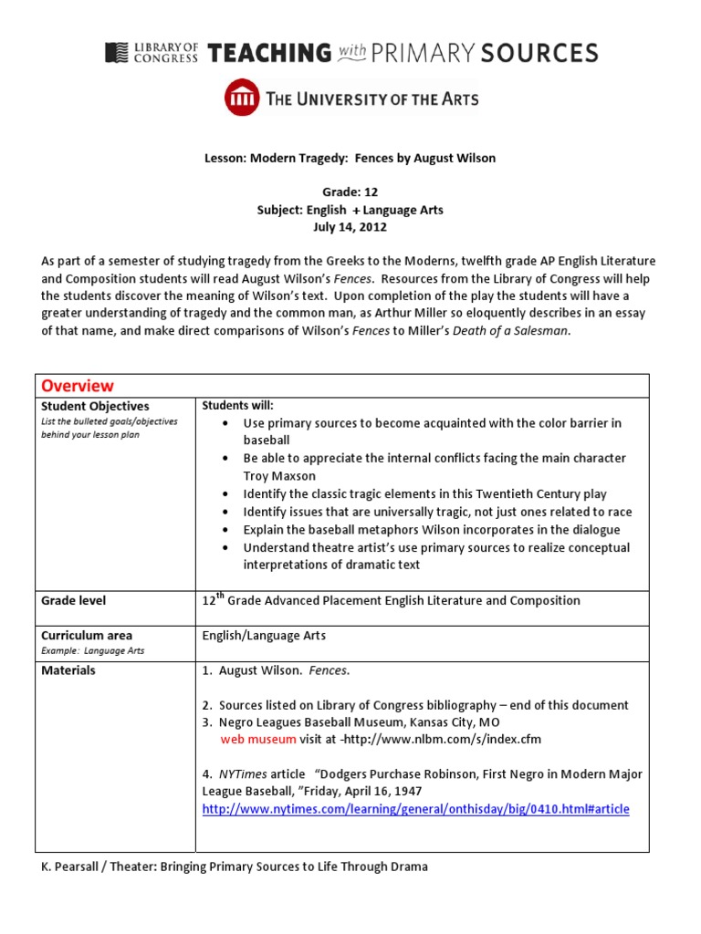 august wilsons fences and american dream english literature essay Exploring august wilson's play, fences essay essay 2 parameters: this is your second formal writing assignment you will receive a letter grade for this assignment based on the requirements and rubric posted below.