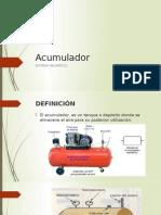 Acumulador o Tanque de Almacenamiento de un Sistema Neumatico (aire)
