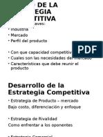 Diseño de La Estrategia Competitiva