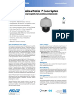Spectra Professional Series IP Dome System Specification Sheet