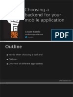 Choose Backend for Mobile Swipe2012