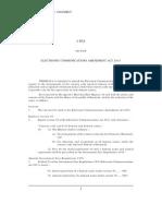 Electronic Communications Amendment Bill 2015