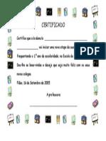 Certificado de Iniciação a Um Ciclo - 1.º Ano