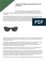 Los diez mejores consejos para lograr unas gafas de sol on line de calidad a buen coste