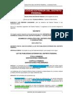 Ley de Publicidad DF