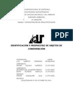 Identificación y Propuestas de Objetos de Conservación