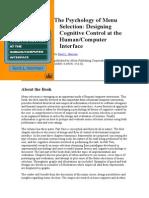 computer/human interface design