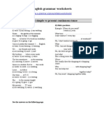 Present Tense Worksheet