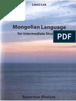 Mongolian Language for Intermediate Students