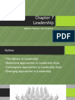 Chapter 7 - Leadership