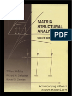 Matrix Structural Analysis 2nd Edition