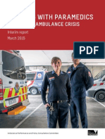 Working with Paramedics to end the Ambulance Crisis