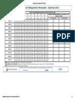 Cronograma de Obligaciones Mensuales2012
