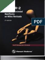 CMASR-2 ESCALA DE ANSIEDAD MANIFIESTA EN NIÑOS
