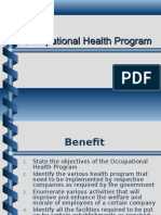 Occupational Health Program