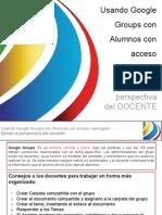 Google Groups Con Alumnos Con Acceso Restringido-Docentes
