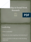 leadership  in social work-sowk 645