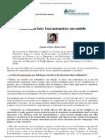 Irma Elena Saiz_ Una Matemática Con Sentido _ Educ