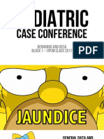 Case Conference - Pediatrics - Jaundice