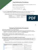 Designing Substantive Procedures