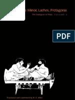 Plato the Dialogues of Plato, Volume 3- Ion, Hippias Minor, Laches, Protagoras (the Dialogues of Plato) 1996