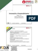 PEE Innovacion y Emprendimiento Sesion 1 y 2