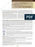 Tests of and Degrees in French as a Foreign Language