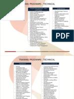 Training Program Summary