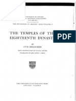 Uhoelscher Tempels of the 18th Dynasty 1935
