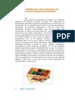 Juegos y Materiales Para Construir Las Matemáticas en Educación Primaria