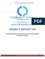PC Based Industrial Automation With AVR Atmega 16 - Project Report