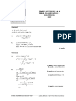2009 Maths Methods 3 4 Exam 1 Solutions (1)