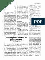 1981 Sherrington_s Concept of Proprioception