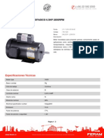 DocMOTOR ELECTRICO MONOFASICO 0.5HP