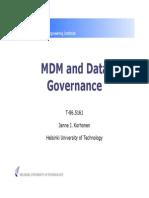 MDM and Data Governance